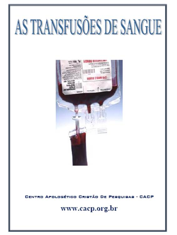 E-Book: As Transfusões de Sangue