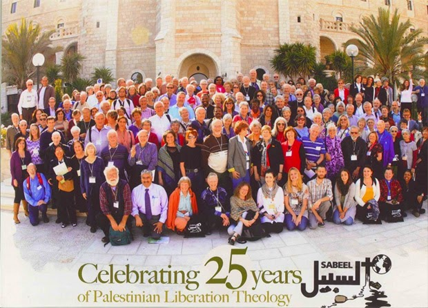 Presbyterian delegation celebrating 25 years of the Palestinian Liberation Theology at Sabeel